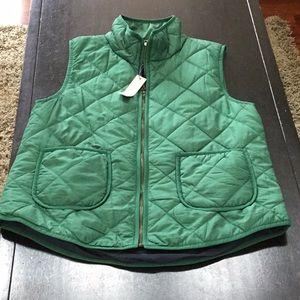 NWT 41 Hawthorn emerald green puffer vest